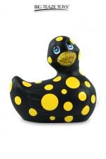 Mini canard vibrant Happiness noir : Déclinaison noire du célèbre canard vibrant dans la collection Happiness.  I Rub My Duckie est désormais en version 2.0.