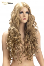 Perruque Angèle blonde - World Wigs : Perruque longue blonde qualité Premium, avec des cheveux longs et ondulés pour un look lumineux et naturel.