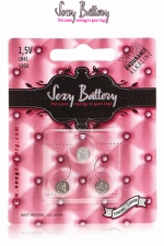 Sexy battery - Piles LR41 x3 : 3 piles Sexy Battery de type LR41 au lithium pour faire fonctionner vos sextoys.